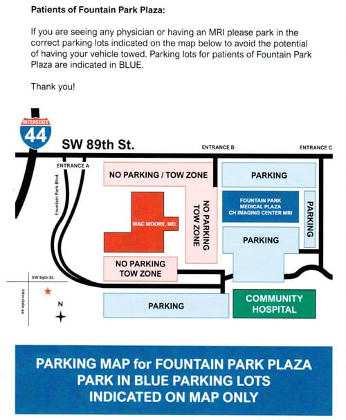OCO Sports Parking Map
